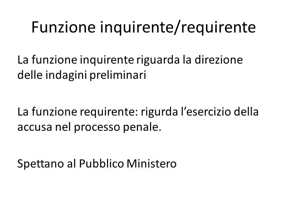 Funzione inquirente/requirente
