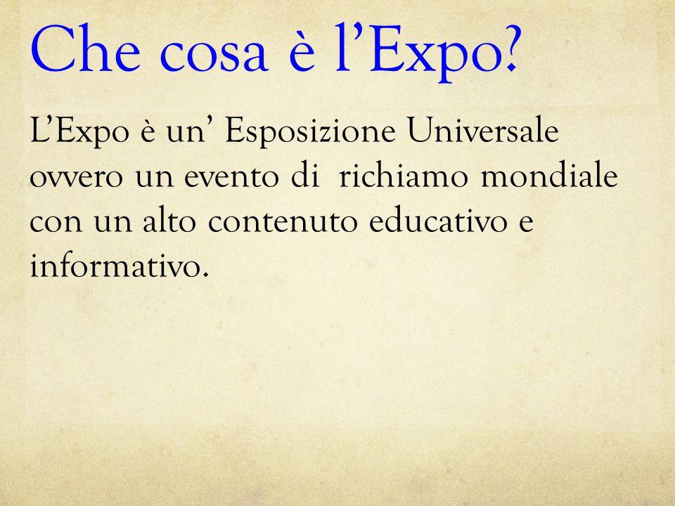 Che cosa è l'Expo.