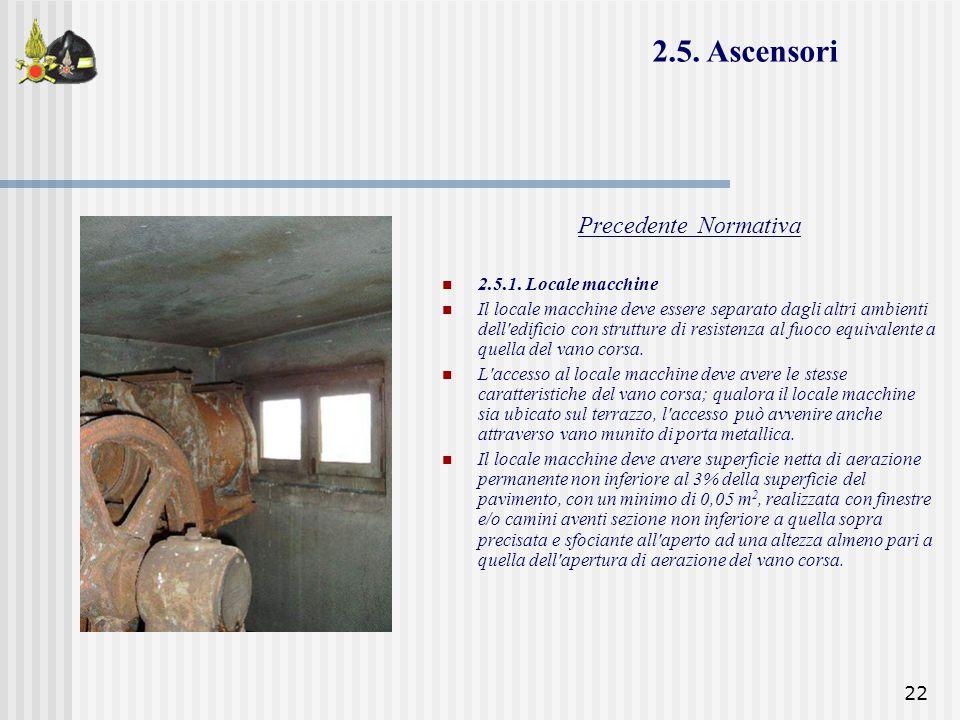 2.5. Ascensori Precedente Normativa 2.5.1. Locale macchine