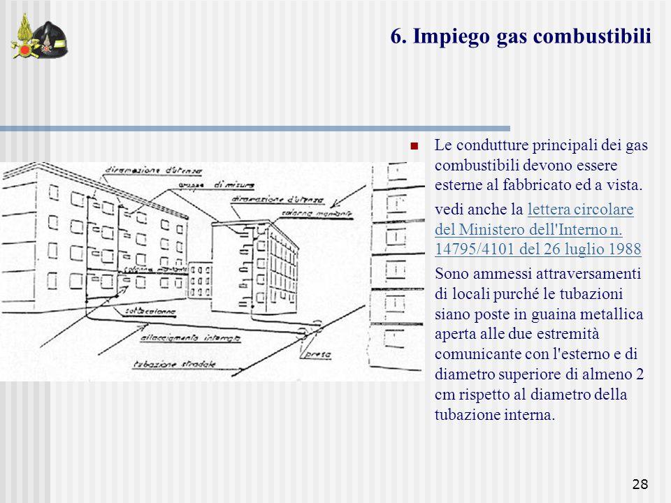 6. Impiego gas combustibili