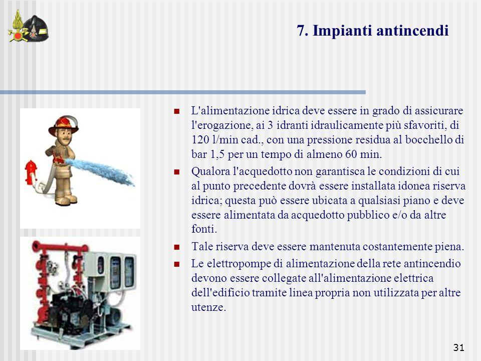 7. Impianti antincendi