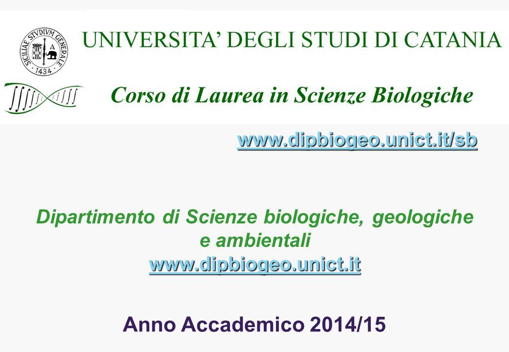 Dipartimento di Scienze biologiche, geologiche