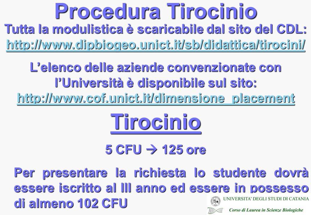 Procedura Tirocinio Tirocinio