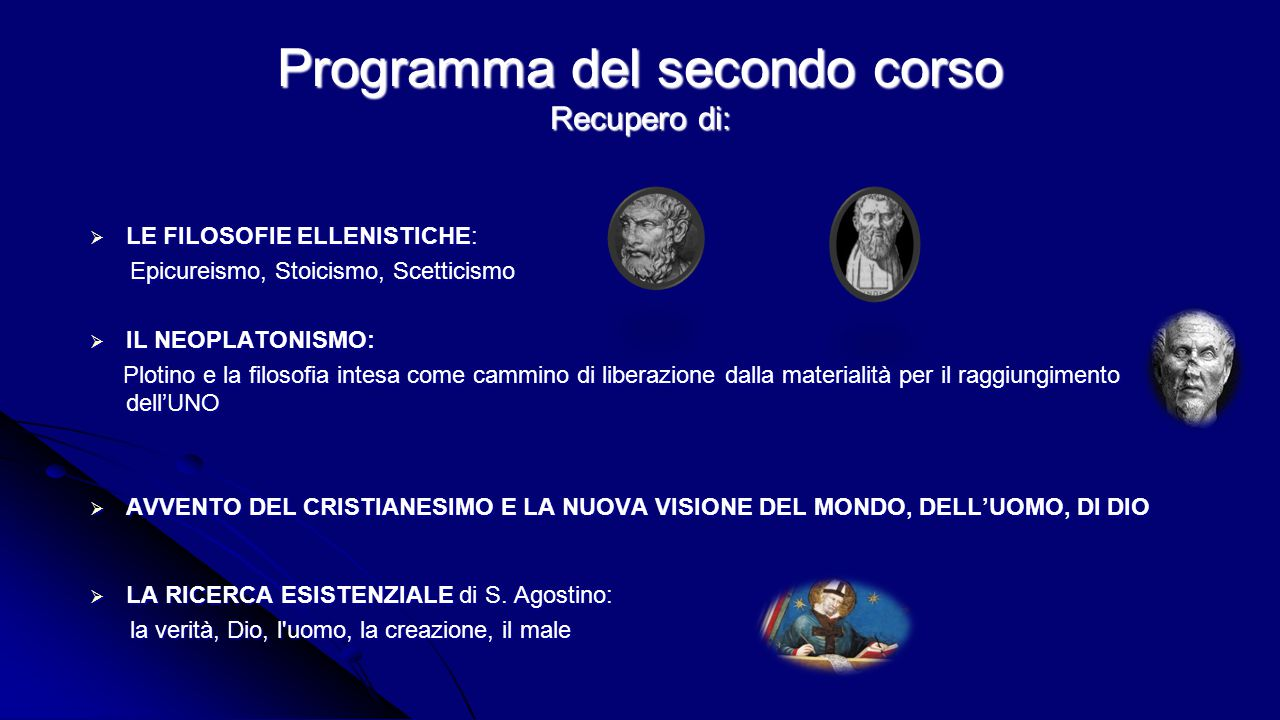 Programma del secondo corso Recupero di: