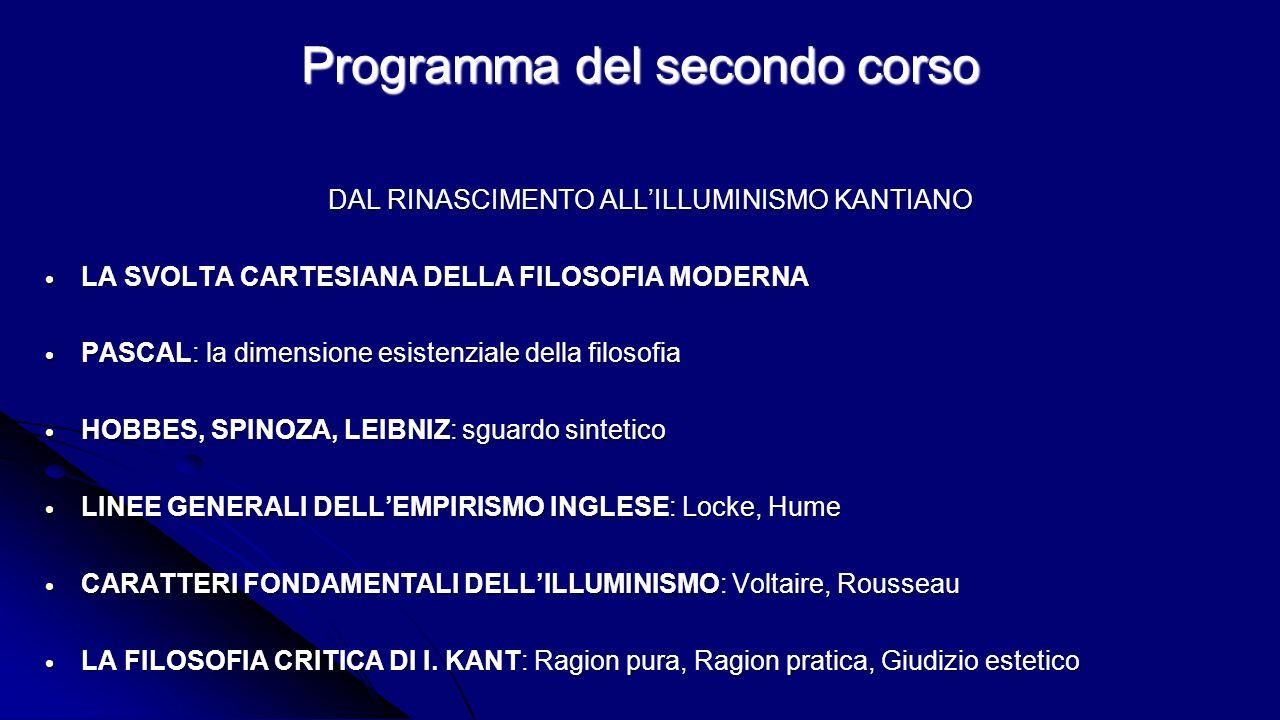 Programma del secondo corso