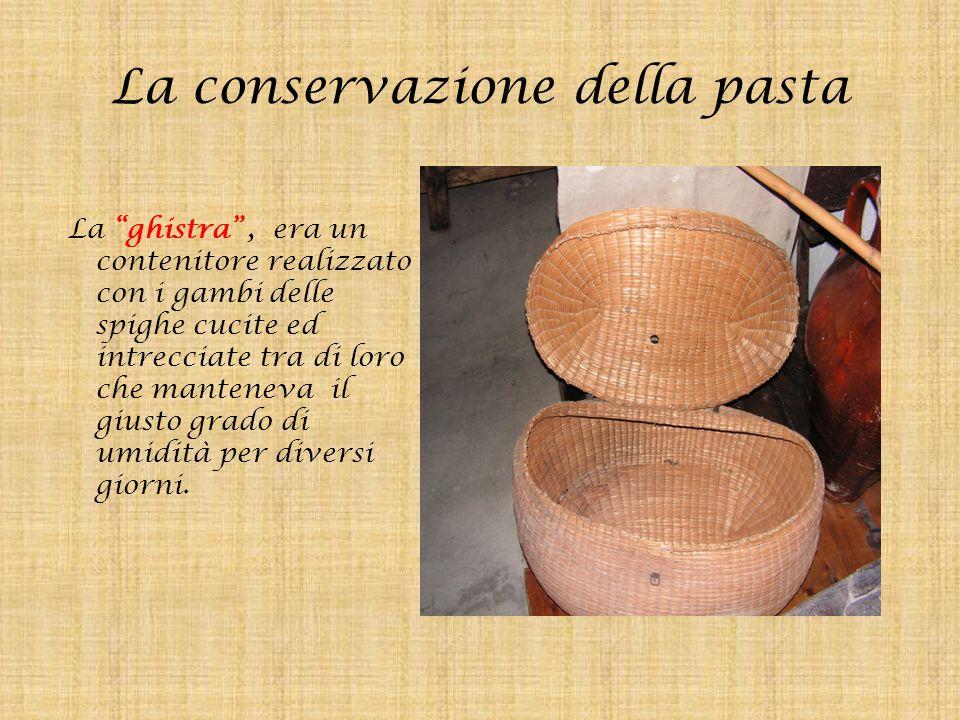 La conservazione della pasta