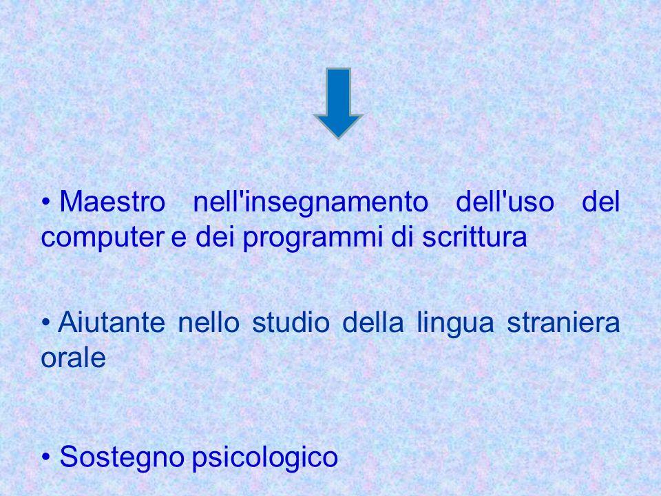 Maestro nell insegnamento dell uso del computer e dei programmi di scrittura
