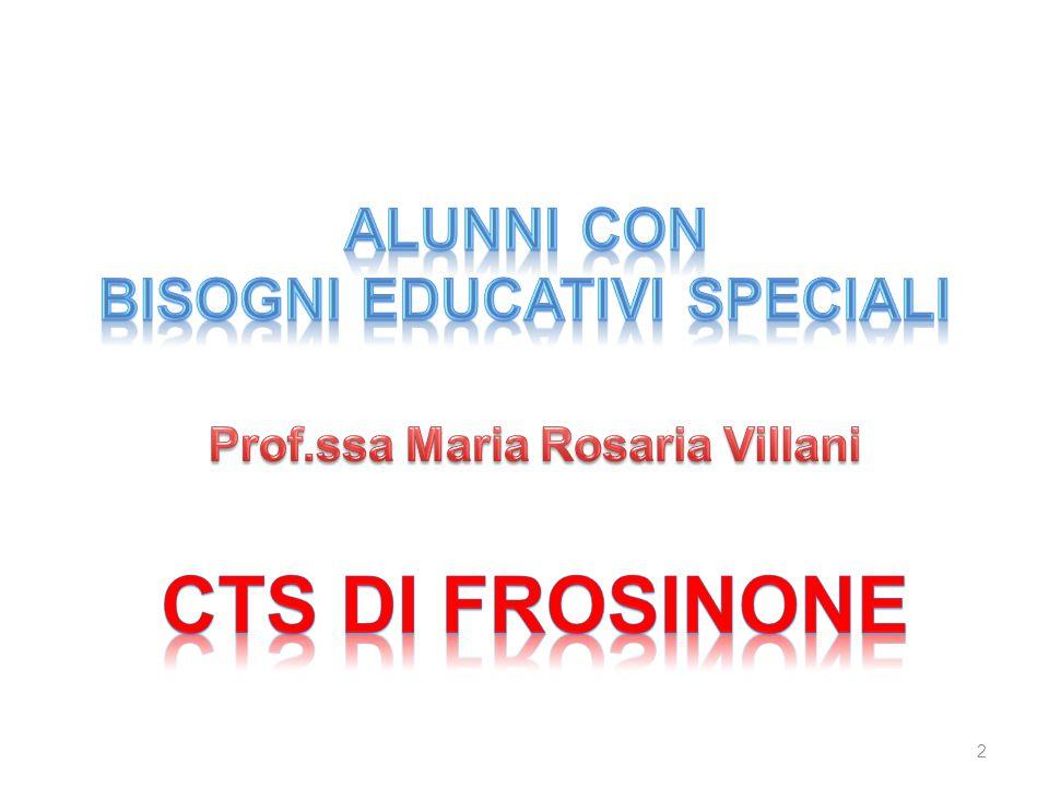 Bisogni Educativi Speciali Prof.ssa Maria Rosaria Villani