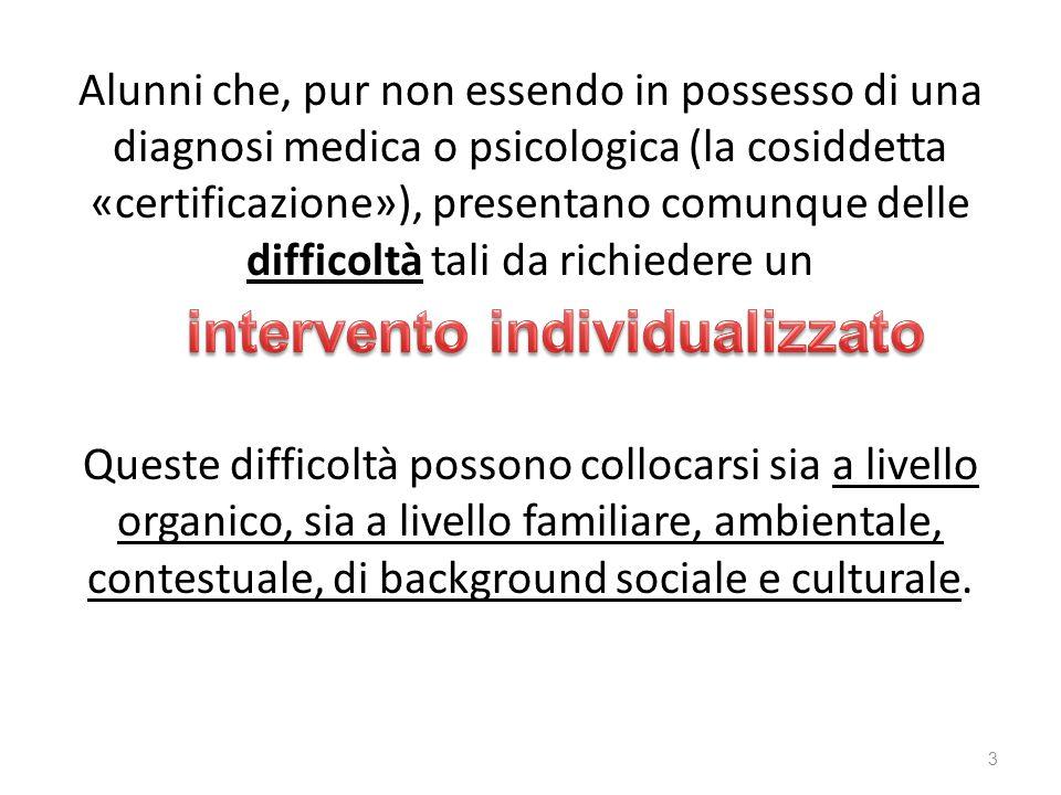 intervento individualizzato