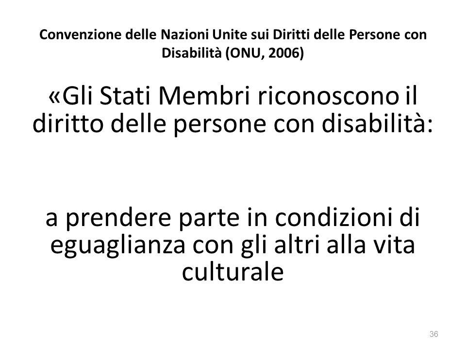 Convenzione delle Nazioni Unite sui Diritti delle Persone con Disabilità (ONU, 2006)