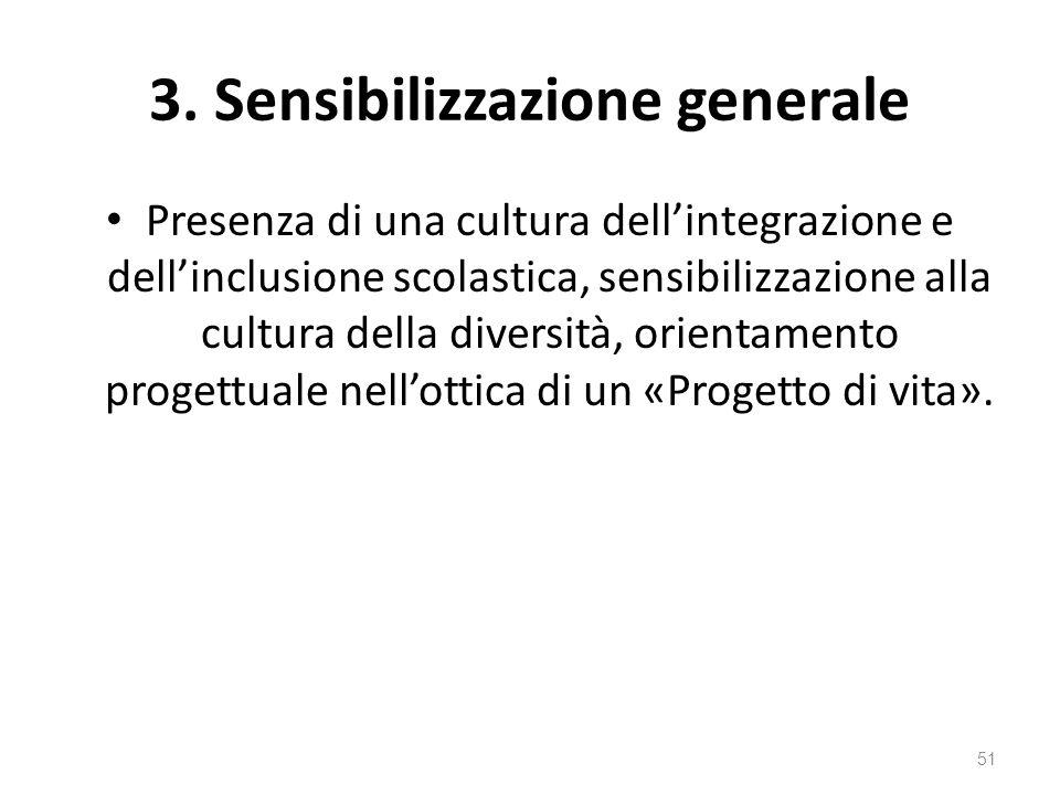 3. Sensibilizzazione generale