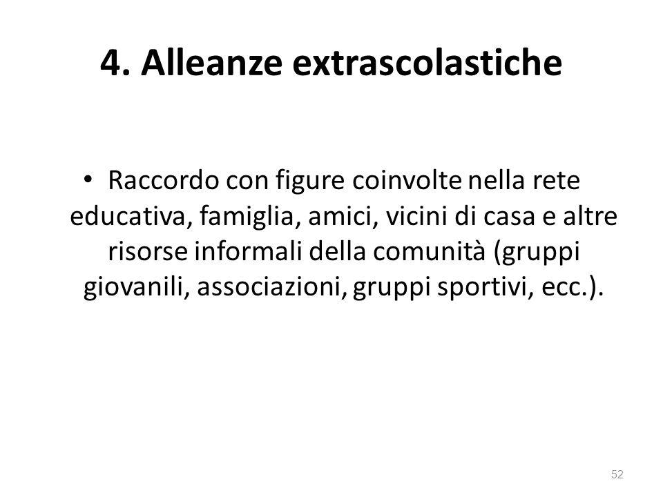 4. Alleanze extrascolastiche