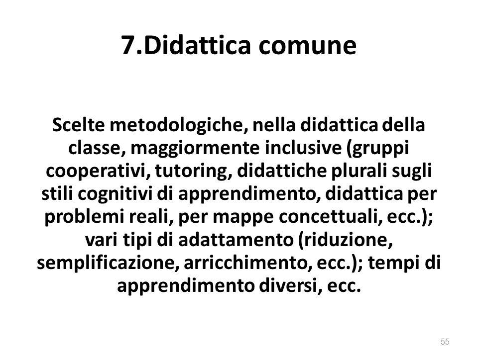 7.Didattica comune