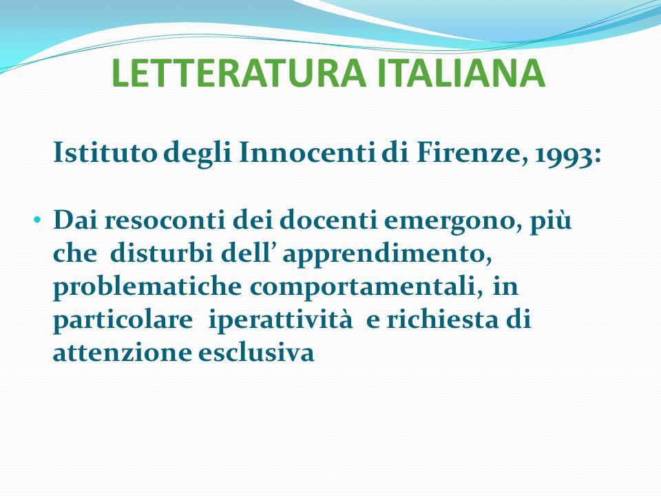 Istituto degli Innocenti di Firenze, 1993: