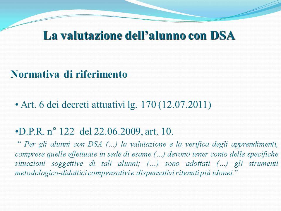 La valutazione dell'alunno con DSA