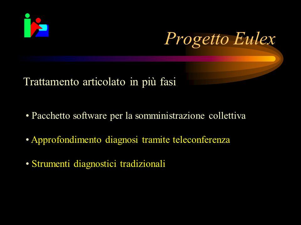 Progetto Eulex Trattamento articolato in più fasi