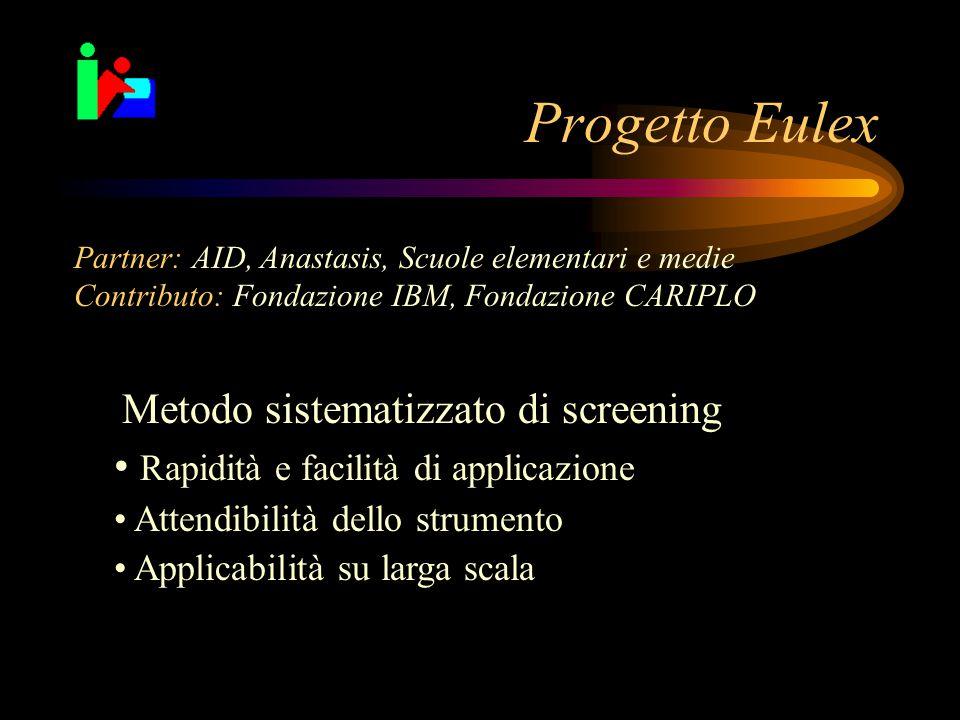 Progetto Eulex Rapidità e facilità di applicazione