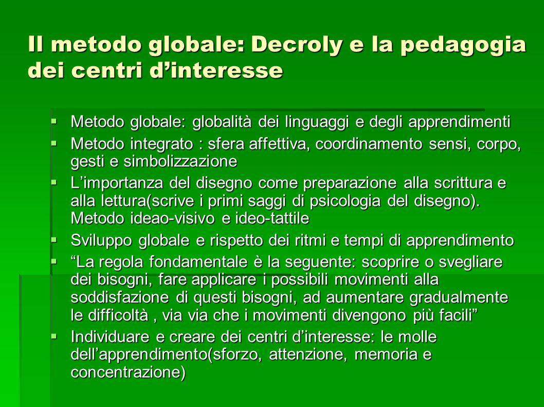 Il metodo globale: Decroly e la pedagogia dei centri d'interesse