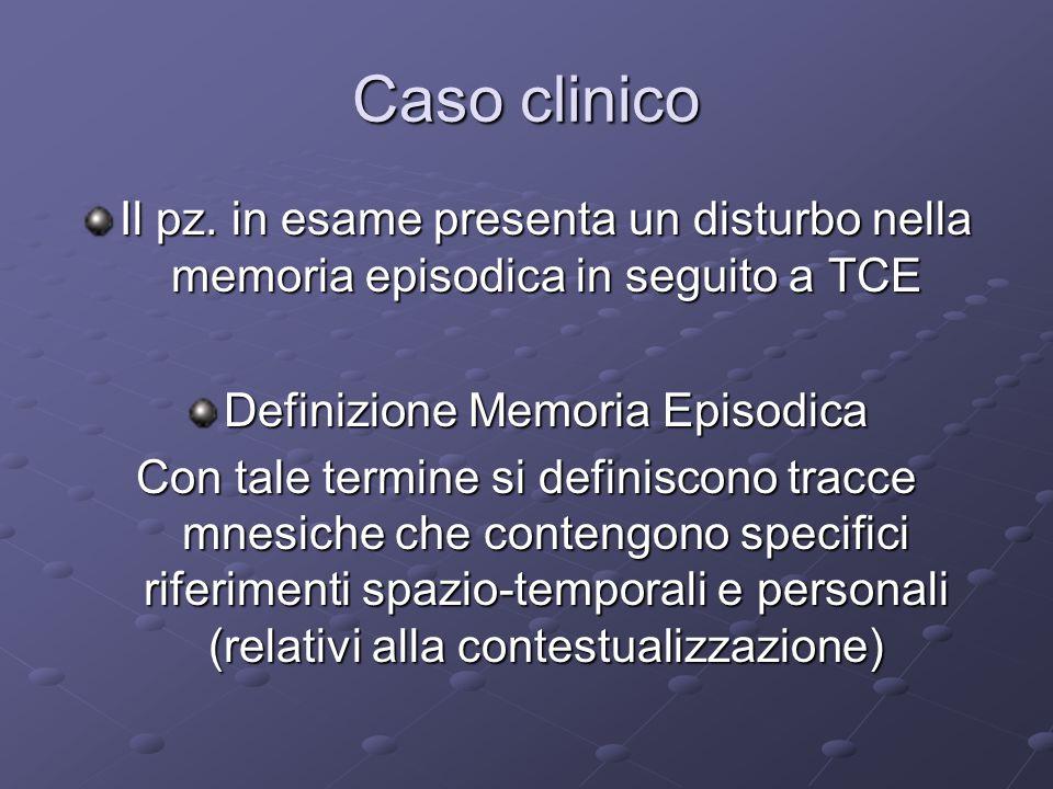 Definizione Memoria Episodica