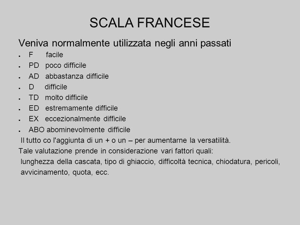 SCALA FRANCESE Veniva normalmente utilizzata negli anni passati