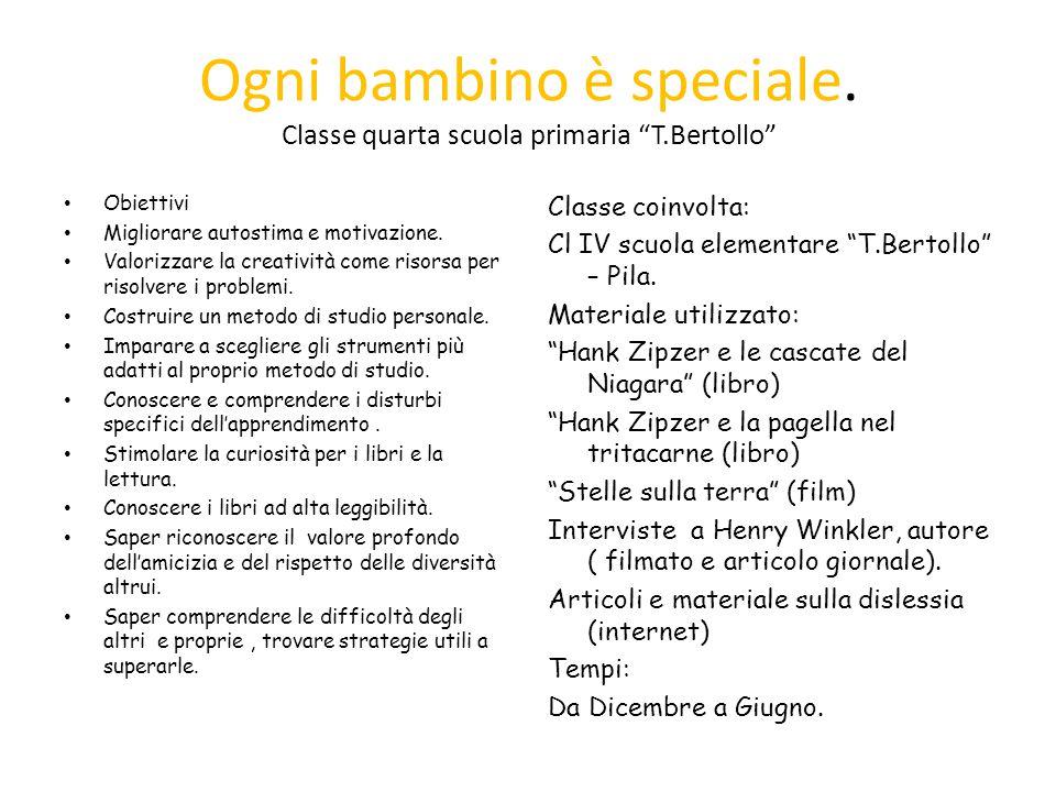 """Souvent Ogni bambino è speciale. Classe quarta scuola primaria """"T.Bertollo  RG62"""