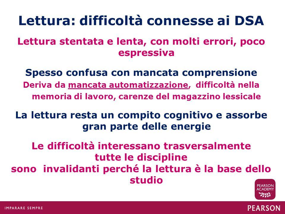 Lettura: difficoltà connesse ai DSA