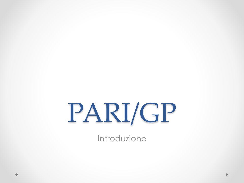 PARI/GP Introduzione