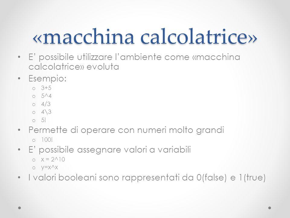 «macchina calcolatrice»