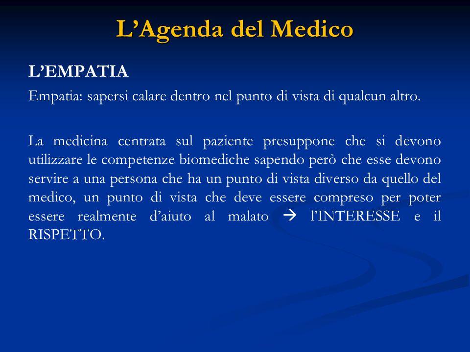 L'Agenda del Medico L'EMPATIA