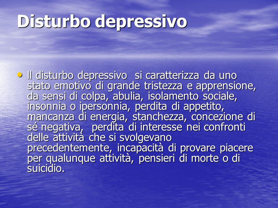 Disturbo depressivo