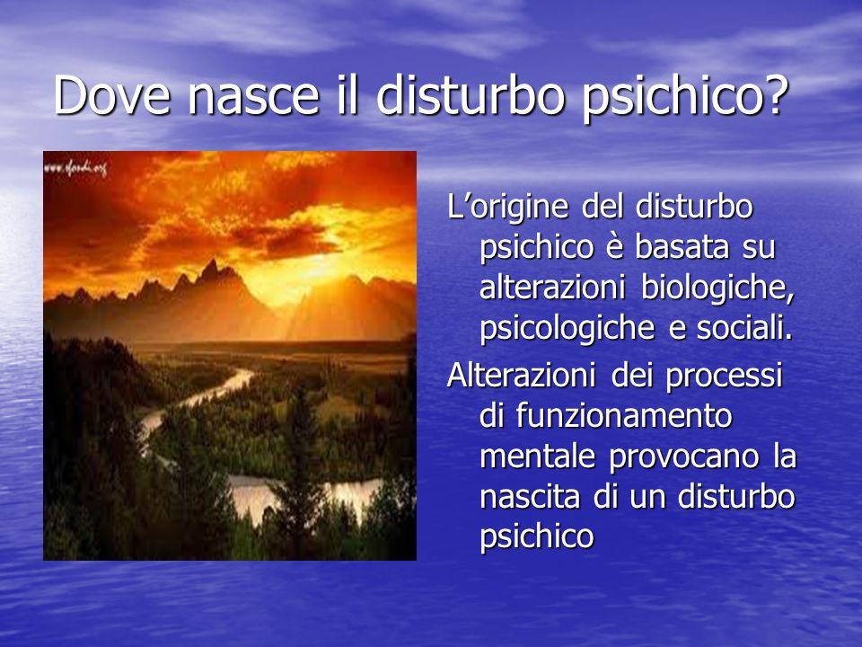 Dove nasce il disturbo psichico
