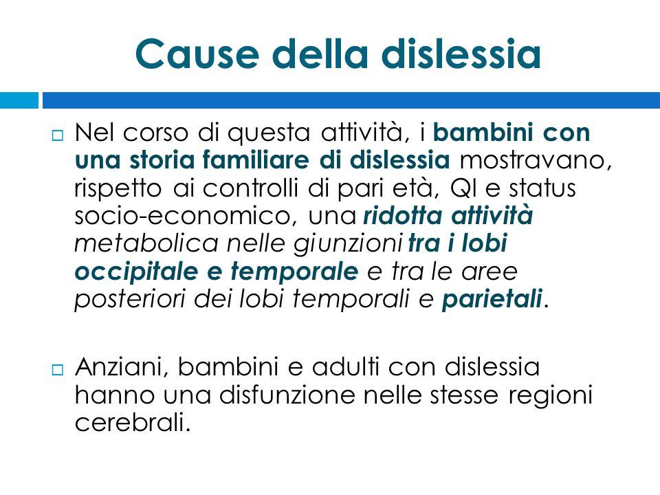Cause della dislessia