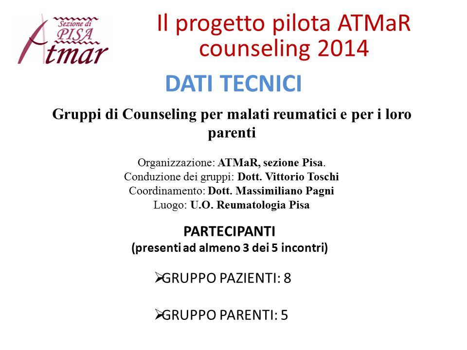 Il progetto pilota ATMaR counseling 2014