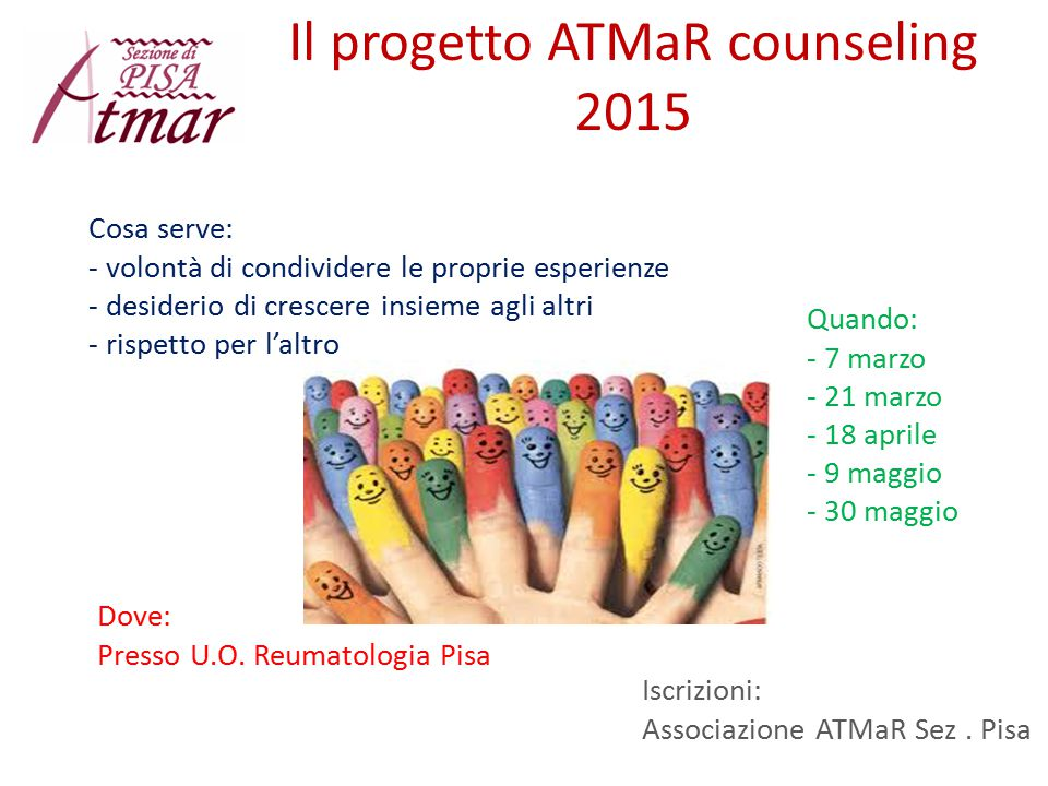 Il progetto ATMaR counseling 2015