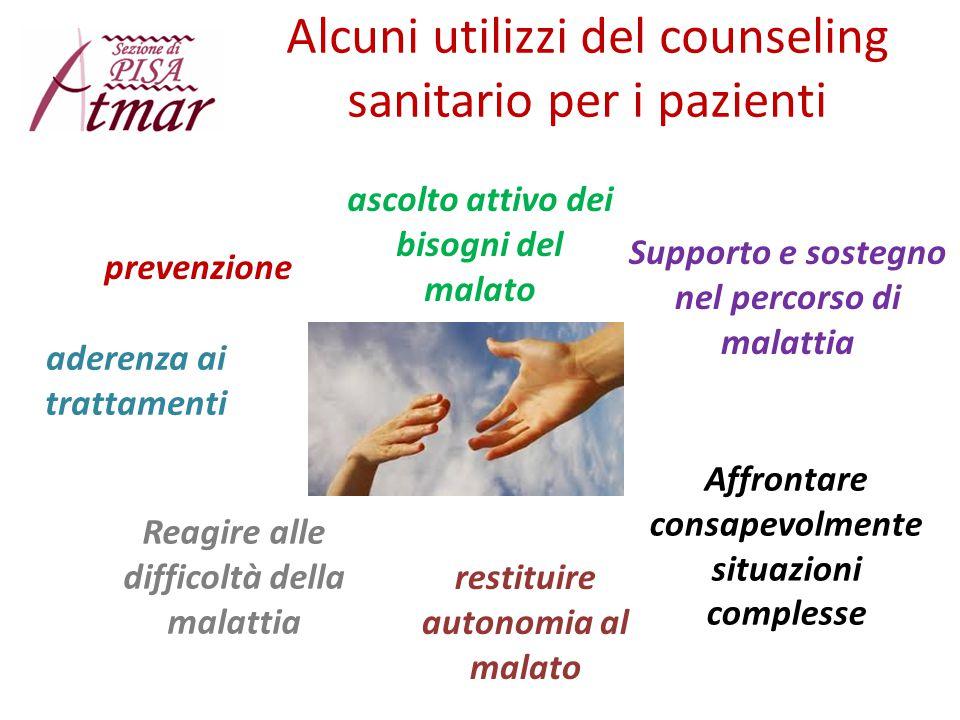 Alcuni utilizzi del counseling sanitario per i pazienti