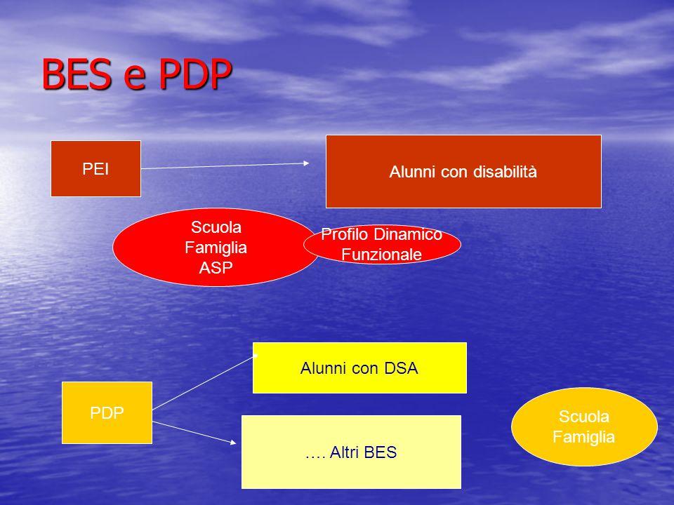 BES e PDP PEI Alunni con disabilità Scuola Famiglia Profilo Dinamico