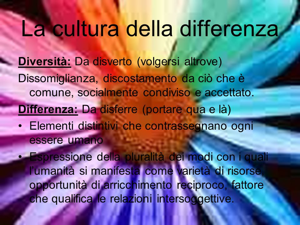 La cultura della differenza