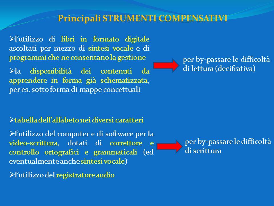 Principali STRUMENTI COMPENSATIVI