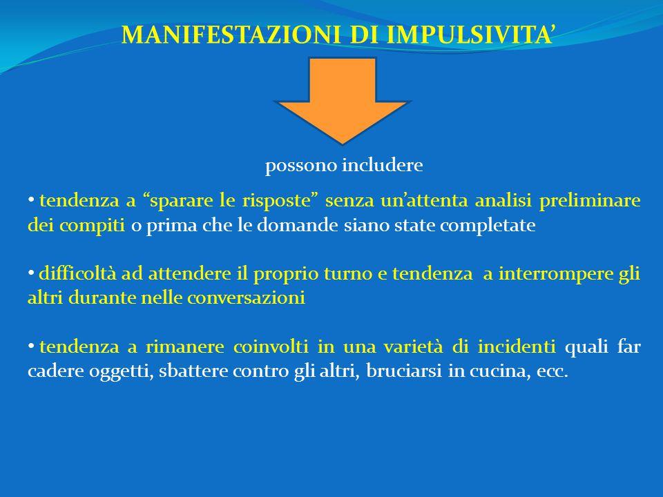 MANIFESTAZIONI DI IMPULSIVITA'