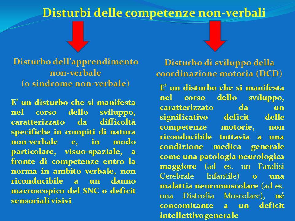 Disturbi delle competenze non-verbali