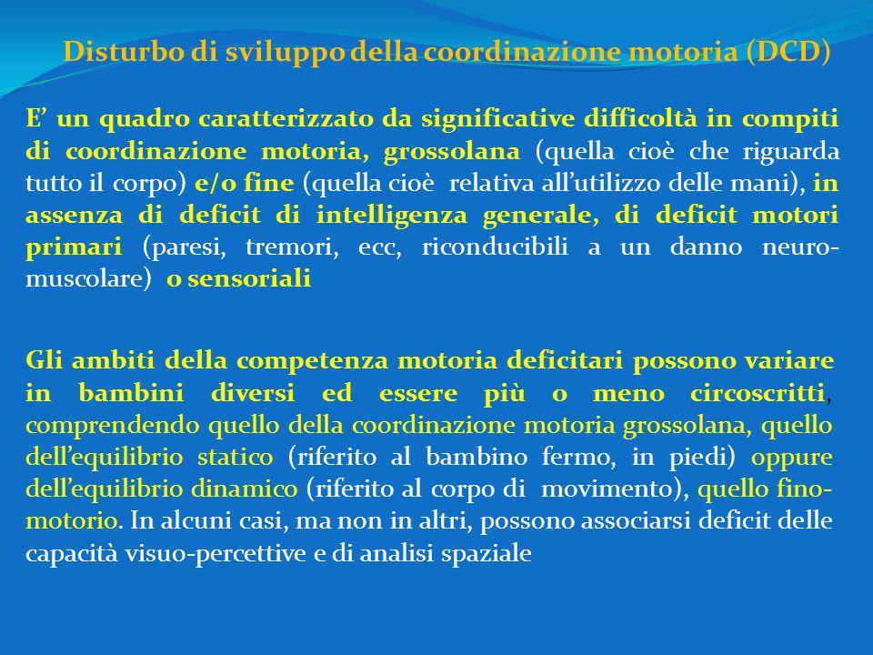 Disturbo di sviluppo della coordinazione motoria (DCD)