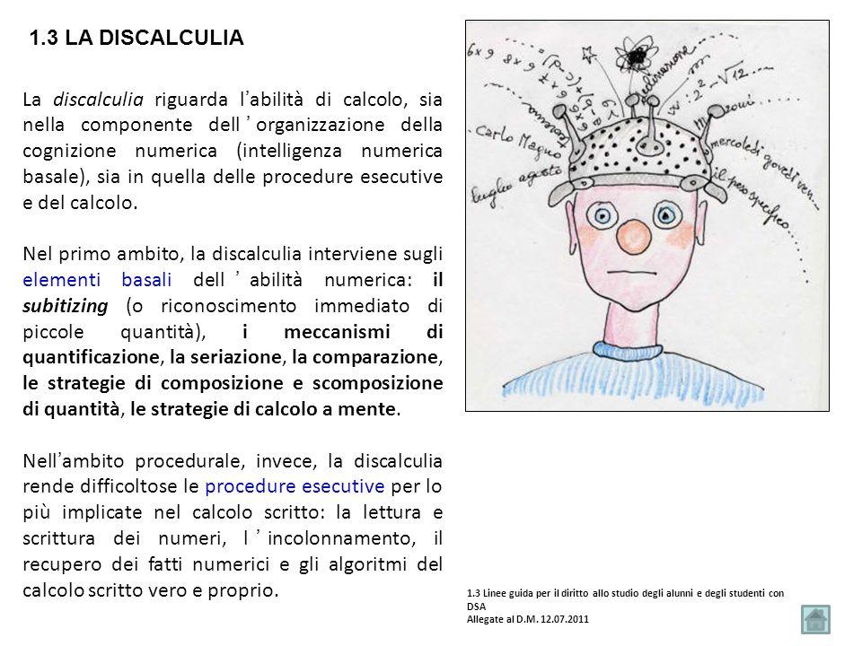 1.3 La discalculia