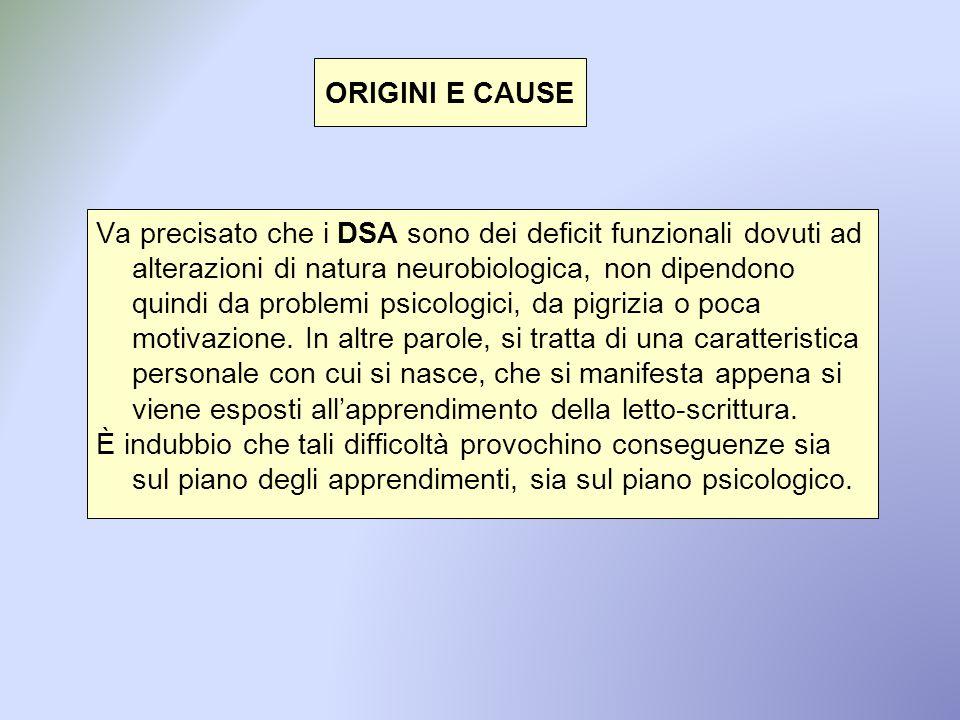 ORIGINI E CAUSE