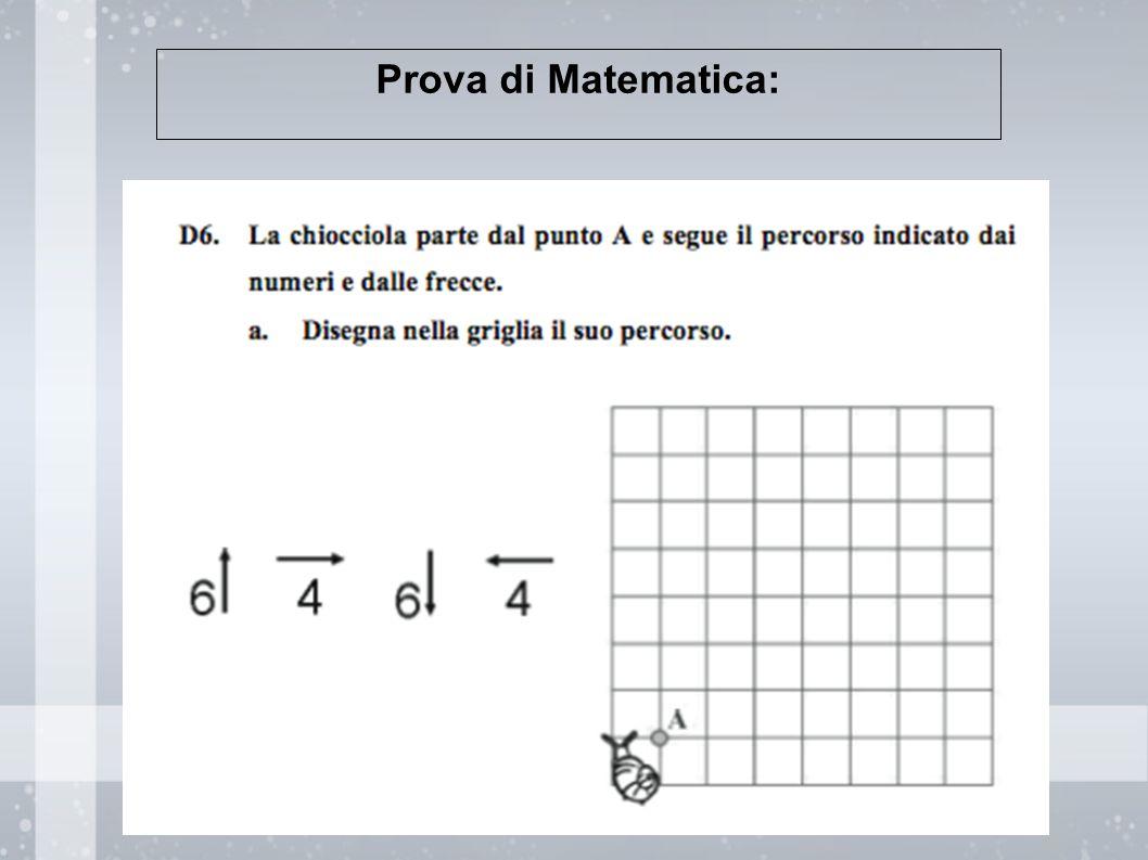 Prova di Matematica: