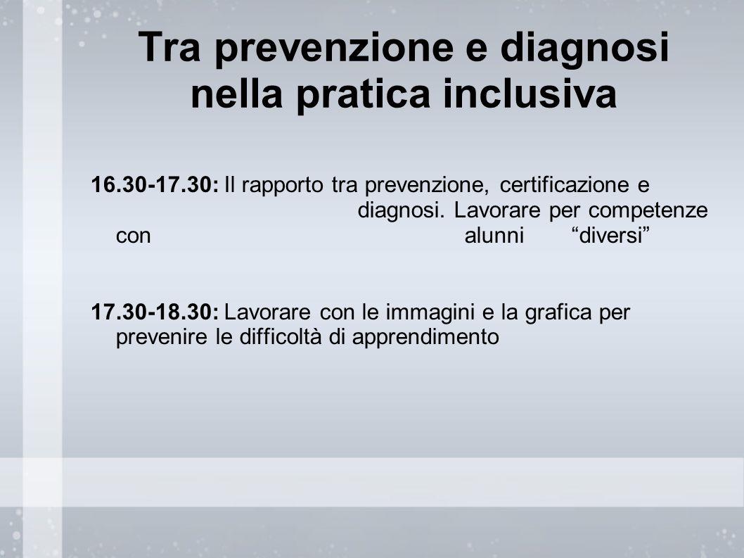 Tra prevenzione e diagnosi nella pratica inclusiva
