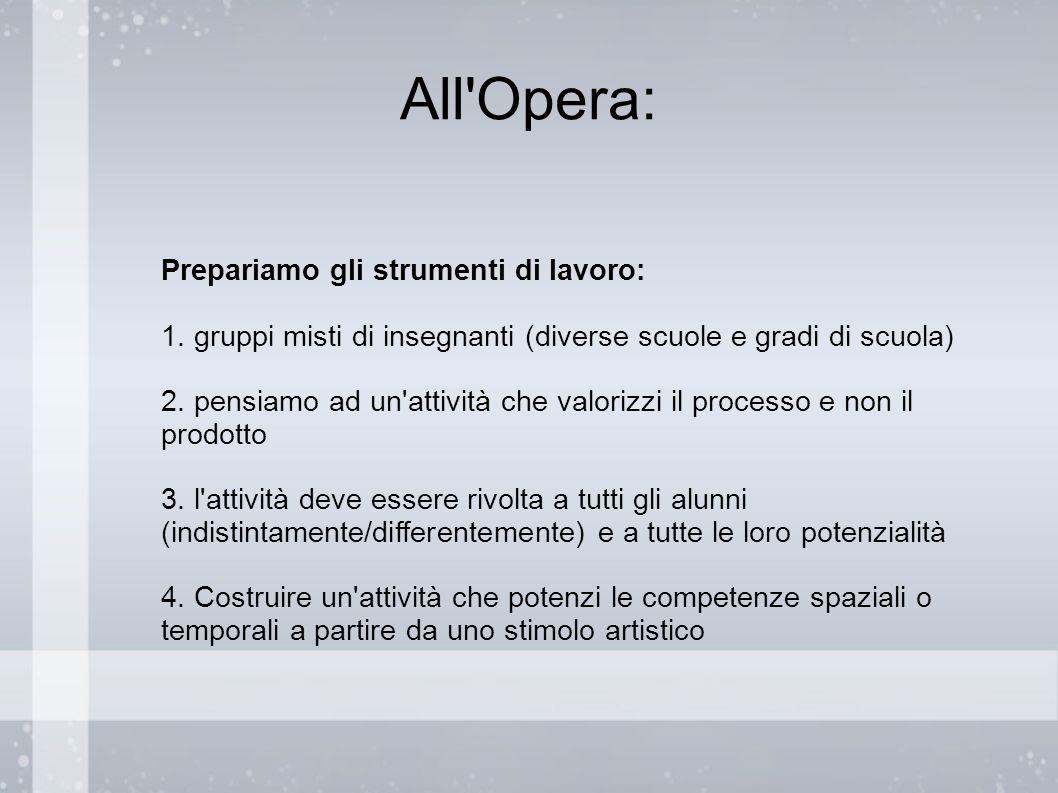 All Opera: Prepariamo gli strumenti di lavoro: