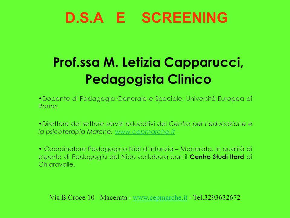 Prof.ssa M. Letizia Capparucci,