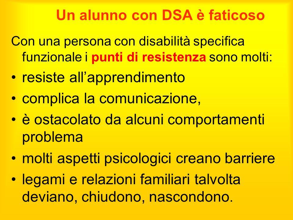 Un alunno con DSA è faticoso