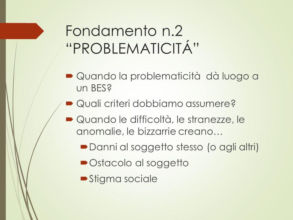 Fondamento n.2 PROBLEMATICITÁ