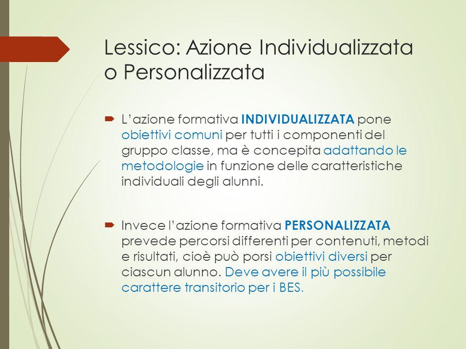 Lessico: Azione Individualizzata o Personalizzata